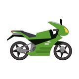 Green motorcycle transport style. Illustration eps 10 Royalty Free Stock Photos