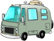 Green Motorhome Stock Images