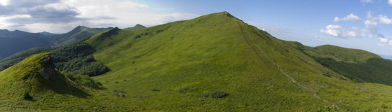 Green mountain Bieszczady Stock Photography