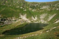 Green mountain lake Stock Images