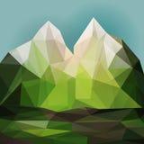 Green mountain landscape Stock Image