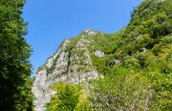 Green mountain landskape. And blue sky Royalty Free Stock Photography