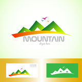 Green mountain logo Stock Photos