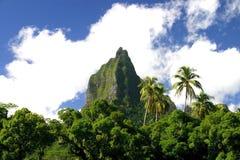 Green mountain Mt. Mouaroa Stock Photo
