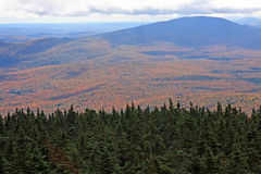 Green Mountain National Forest. In Fall from Stratton Mountain summit, Vermont in autumn Stock Images