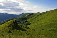 Green mountain panoramic Royalty Free Stock Image