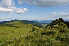 Green mountain panoramic Royalty Free Stock Photo