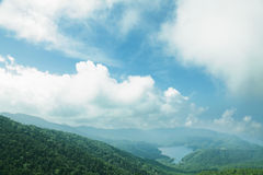 Green mountain range. In Japan Royalty Free Stock Images