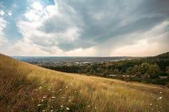 Green mountain range. Landscape in summer, Kislovodsk, Russia Stock Image