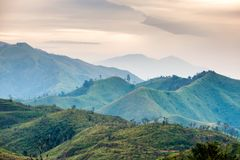 Green mountain range in national park Royalty Free Stock Image