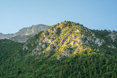 Green mountain slope Royalty Free Stock Images