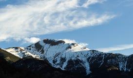 Green Mountain With Snow royalty free stock photos