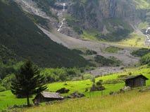 Green mountain valley of glacier Royalty Free Stock Photo