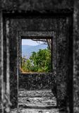 Green Mountain View From Ruins Of Fort Stock Images