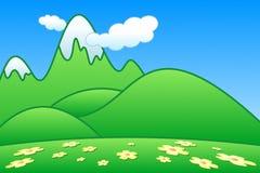 Green Mountains. Vector illustration of green mountains Stock Photo