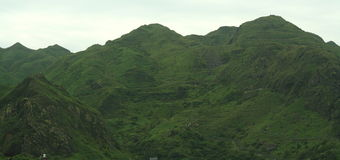 Green mountains. A picture of mountains covered in lush green grass. Picture taken in northern Taiwan Stock Photography