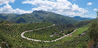 Green mountains in Andalusia Royalty Free Stock Image