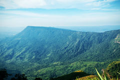 Green mountains with the blue sky. Royalty Free Stock Photography