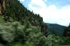 Green mountains and canyons of the state of Colorado. Clear weather. royalty free stock image