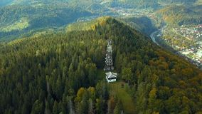 Green mountains in the fall stock footage