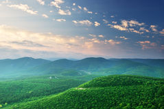 Green mountains hills Stock Image