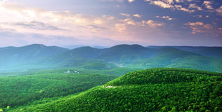 Green mountains hills Royalty Free Stock Photo