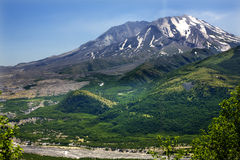 Green Mountains Mount Saint Helens Stock Image
