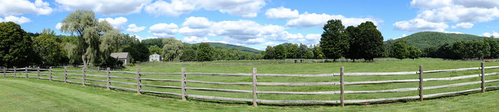 Green Mountains Panorama Stock Photography