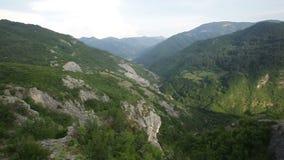Green mountains panorama stock footage