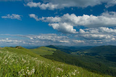 Green mountains. In Polish beautiful Bieszczady Stock Photo