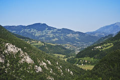 Green mountains in a sunny day Royalty Free Stock Photo