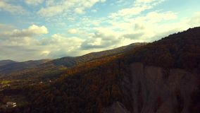 Green mountians in the fall stock footage