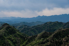 Green moutain under great wall Stock Photography