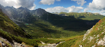 Green moutain with valley, Slovakia, Tatras.  royalty free stock image