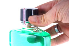 Green mouthwash Royalty Free Stock Photography