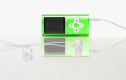 Green mp4. A green media player, mp4 Stock Photo
