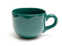 Green mug Royalty Free Stock Photos