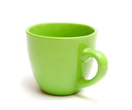 Green mug Royalty Free Stock Image