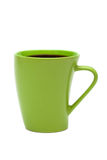 Green mug from coffee Royalty Free Stock Image
