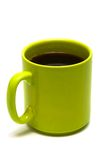 Green mug from coffee Royalty Free Stock Photo