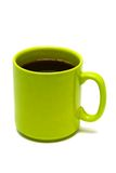 Green mug from coffee Stock Images