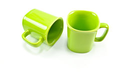 Green mug empty blank Royalty Free Stock Images