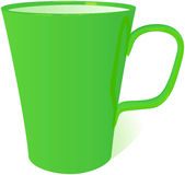 Green mug, vector illustration royalty free illustration