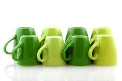 Green mugs Royalty Free Stock Photos