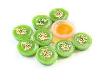 Green multiple scented sesame chinese Stock Images