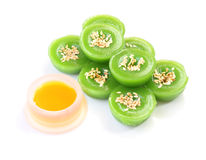 Green multiple scented sesame chinese sweet and liquid sugar Stock Photography
