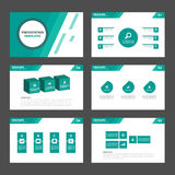 6 green Multipurpose Infographic elements and icon presentation template flat design set advertising marketing brochure flye. Green Infographic elements and icon Stock Illustration