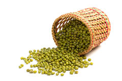 Green mung beans Royalty Free Stock Photos