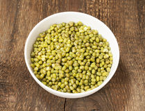 Green mung beans Stock Photo