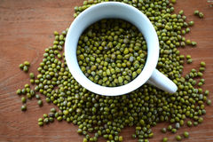 Green mung beans Glass Royalty Free Stock Photo